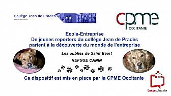 """@CPMEoccitanie -  des Jeunes du collège Jean de Prades de Castelsarrasin  visitent le refuge """"Les Oubliés de Saint Béart"""""""