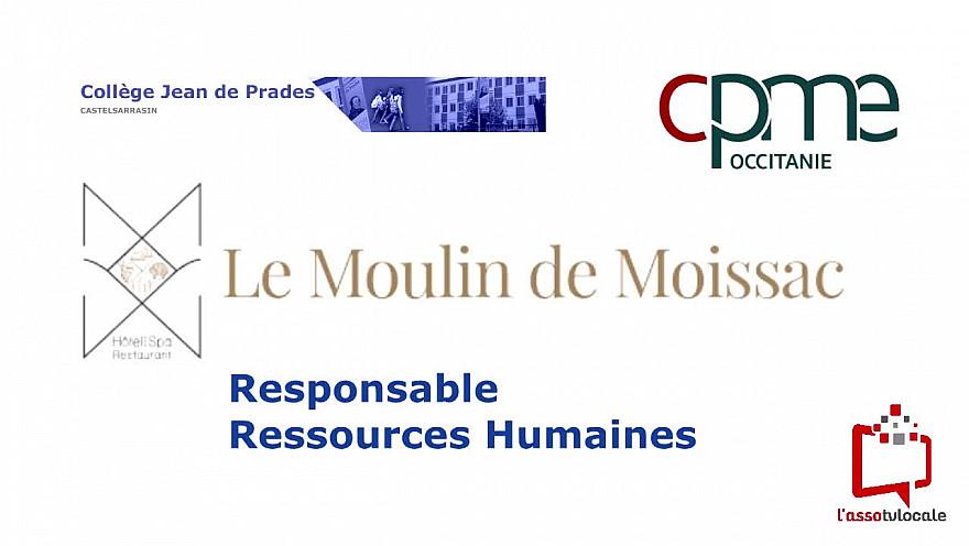 @CPMEoccitanie - des Jeunes du collège Jean de Prades de Castelsarrasin découvrent le métier de Responsable des Ressources Humaines  à  L'Hôtel & Spa Moulin de Moissac 82